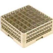 Traex® TR9EE Beige 49 Compartment Glass Rack with 2 Extenders