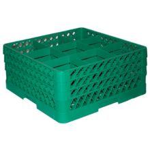 Traex® TR10FFF-19 Green 9 Compartment 3-Extender Glass Rack