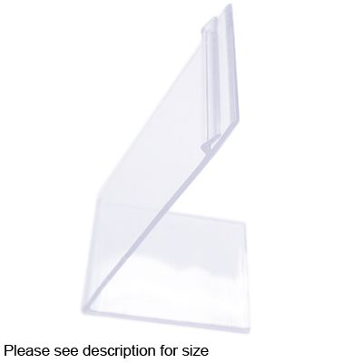 "Shaw & Slavsky EASEL-2X2 Clear 2"" x 2"" Easel Price Tag Holder"