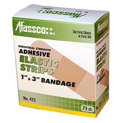 Afassco® 425 Fine Woven Elastic Adhesive Bandage Strips - 75 / BX