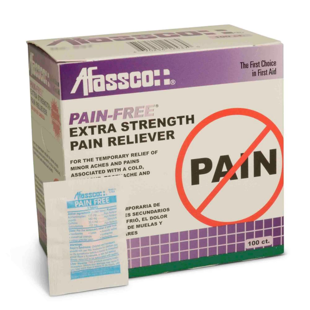 Afassco® 547 Pain-Free Maximum Strength Pain Reliever - 100 / BX