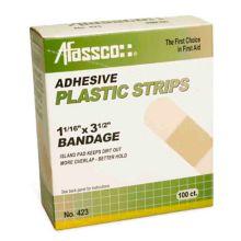 Afassco® 423 Sterile Plastic Strip Adhesive Bandage - 100 / BX