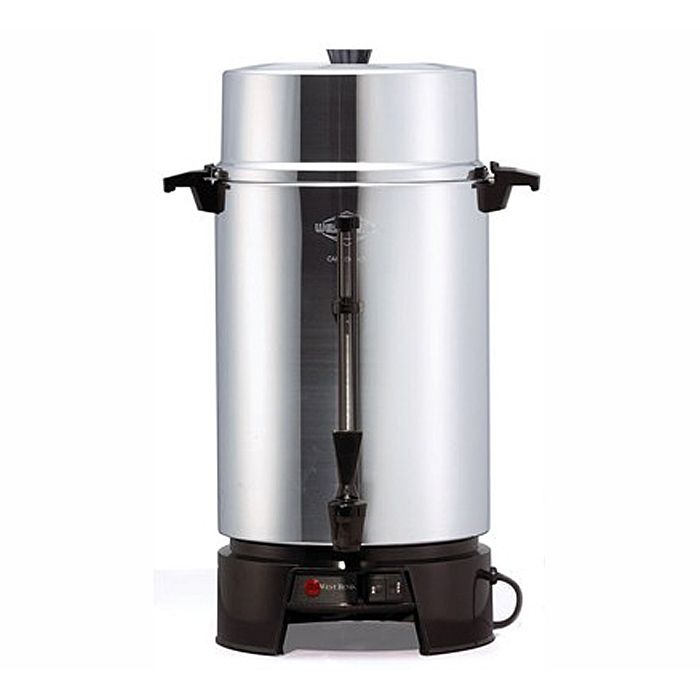 West Bend Commercial 33600 Aluminum 40-100 Cup Percolator