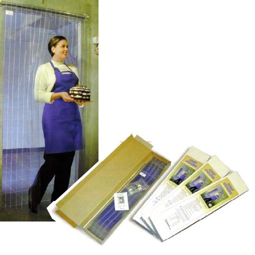 Curtron Products M108-PR-6686 M-Series 66 x 86 Strip Door Curtain