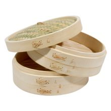 "Town Food Service 34210 10"" Bamboo Steamer Set"