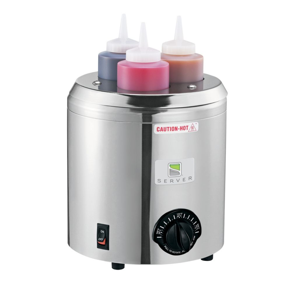 Server 86810 Signature Touch S/S 3-Bottle Squeeze Bottle Warmer