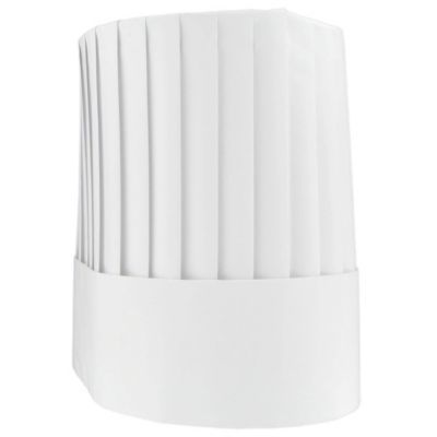 "Cellucap® CC207 Le Classic White Paper 7"" Chef Hat - 12 / CS"