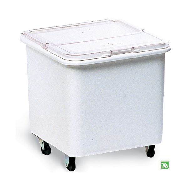 Rubbermaid FG360100 Flat Top Mobile Ingredient Bin with Sliding Lid