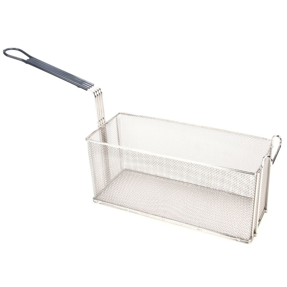 "Pitco® B4509801 16.25 x 6.5 x 7"" Oblong Basket With Front Handle"