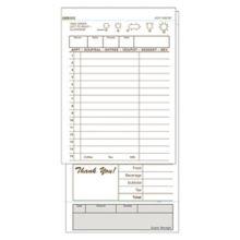 DayMark 112800 Tan 2-Part Carbonless 15-Line Guest Check - 2000 / CS