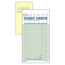 DayMark 112804 Green Interleaving Carbon 17-Line Guest Check - 50 /CS