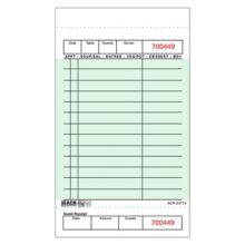 DayMark 112926 Green 1-Part Board 14-Line Guest Check - 40 / CS