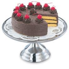 "Vollrath® 48023 Mirror Finish S/S 13"" Cake Stand"