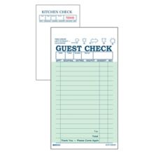 DayMark 112803 Green Interleaving Carbon 17-Line Guest Check - 50 / CS