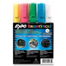 Expo SAN14075 Set Of 5 Bullet Tip Bright Stick Markers - Set
