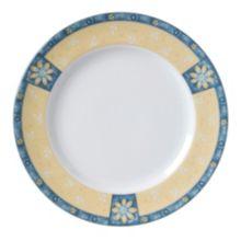 "Vertex® China AL-16-DS Alpine Daisies 10.5"" Plate - 12 / CS"