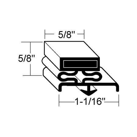 Beverage-Air 712-012D-13 Gasket for UCR34 Undercounter Refrigerator