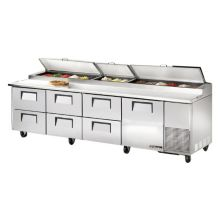 True® TPP-119D-6 1-Door 6-Drawer S/S Pizza Prep Table