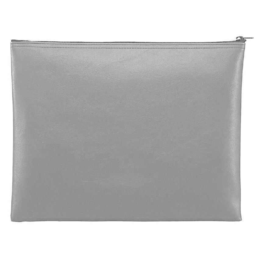 Block & Co. 234042001 Light Gray 12.5 x 9.5 Leatherette Portfolio