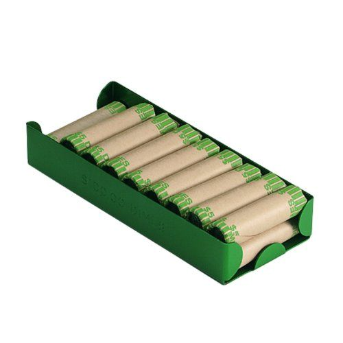 Block & Co. 211011002 Green Aluminum Rolled Dimes Storage Tray
