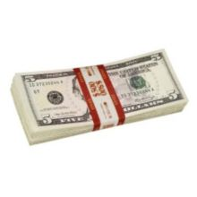 Block & Co. 1160502F07 Red $5.00 Currency Strap - 1000 / BX