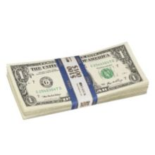 Block & Co. 1160502C08 Blue $1.00 Currency Strap - 1000 / BX