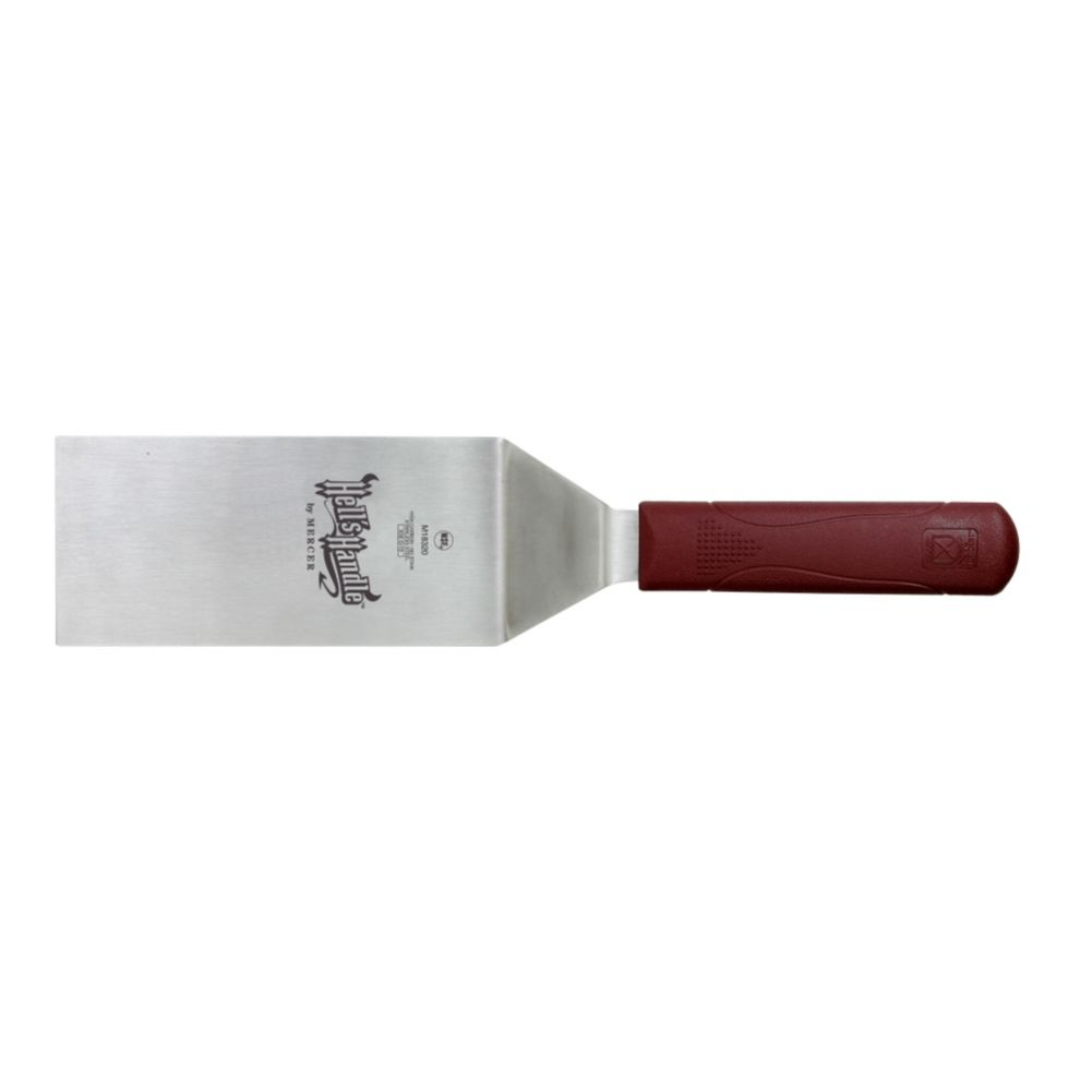 "Mercer Culinary M18320 Hell's Handle 6"" Square Edge Turner"
