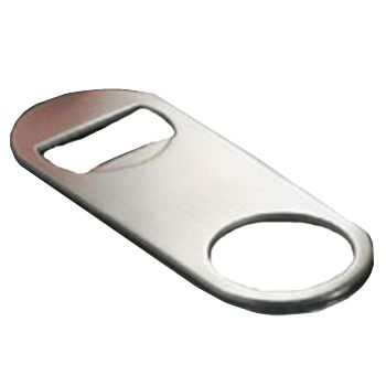 American Metalcraft SBO154 S/S Mini Flat Bottle Opener