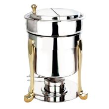 Eastern Tabletop 3107FS Freedom 7 Quart Marmite with Brass Accents