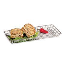 """G.E.T. 4-835809 S/S 9"""" x 7"""" Rectangular Grid Basket"""