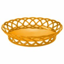 "G.E.T. RB-860-TY Tropical Yellow Polypropylene 10.5"" Basket - 12 / CS"