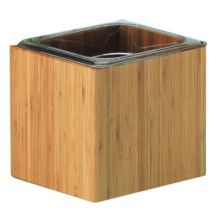 Cal-Mil 475-6-60 Bamboo 1/6 Size Housing with Clear Food Pan