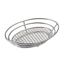 "G.E.T.® 4-84814 Stainless 12.5"" Oval Basket with Grid Base"