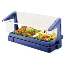 Cambro® BBR480186 Navy Blue 3-Pan Buffet Bar with Sneeze Guard