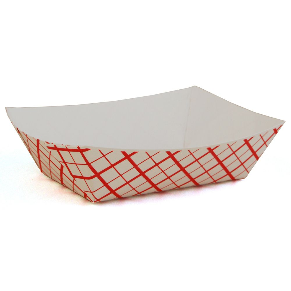 Southern Champion 0409 Red Weave .5 Lb Paperboard Food Tray - 1000 / CS