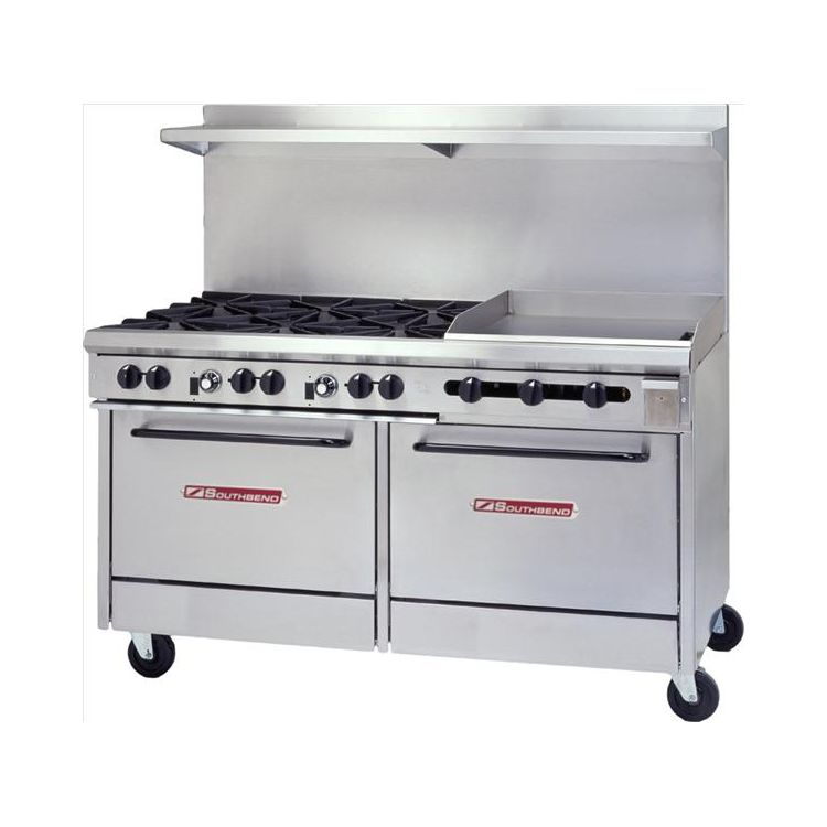 Southbend S60DD-2GR S-Series Natural Gas 6-Burner Range with Griddle