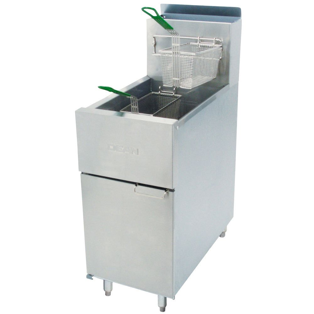 Dean® SR142G Super Runner Natural Gas Fryer w/ 43 Lb S/S Steel Pot