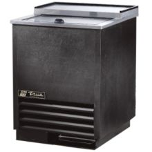 True T-24-GC Black 24 CF / 2-Shelf Glass and Plate Chiller / Froster