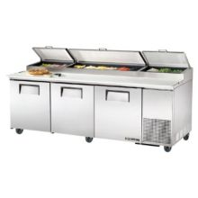 True® TPP-93 3-Door 6-Shelf S/S Pizza Prep Table