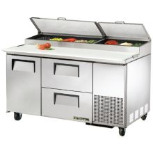 True® TPP-60D-2 LEFT HINGED Door Pizza Prep Table