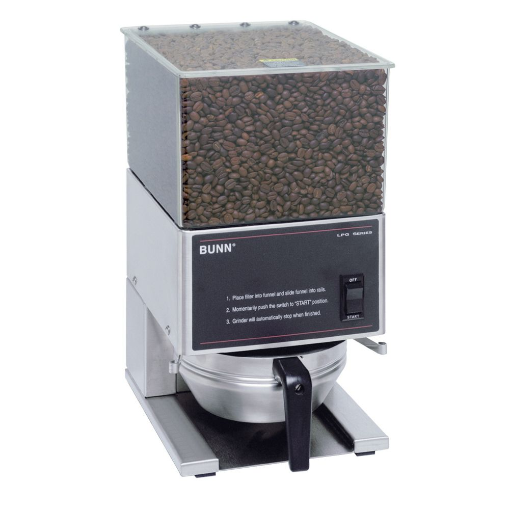 BUNN® 20580.0001 Portion Control Coffee Grinder with 1 Hopper