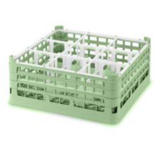 Vollrath® 5296411 Light Green 9-Compartment X-Tall Glass Rack