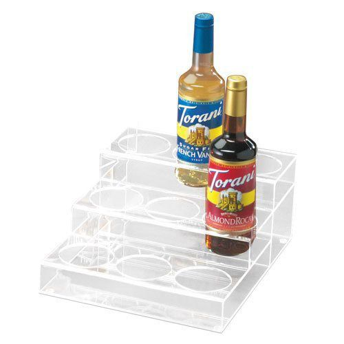 Cal-Mil P296 Clear Acrylic 3-Tier 9-Bottle Syrup Merchandiser