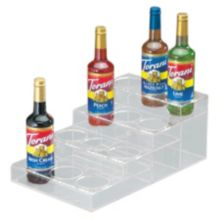 Cal-Mil P297 Clear Acrylic 4-Tier 12-Bottle Syrup Merchandiser