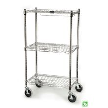 Rubbermaid® FG9G5900CHRM Chrome 3-Shelf Storage Cart for Prosave