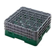 Cambro® 16S638119 Camrack® Green 16 Compartment Glass Rack