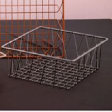 "Dover European Metalworks Steel 12 x 12"" Square Basket"