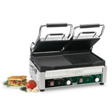 Waring® Commercial WDG300 240V Double Italian Style Panini Grill