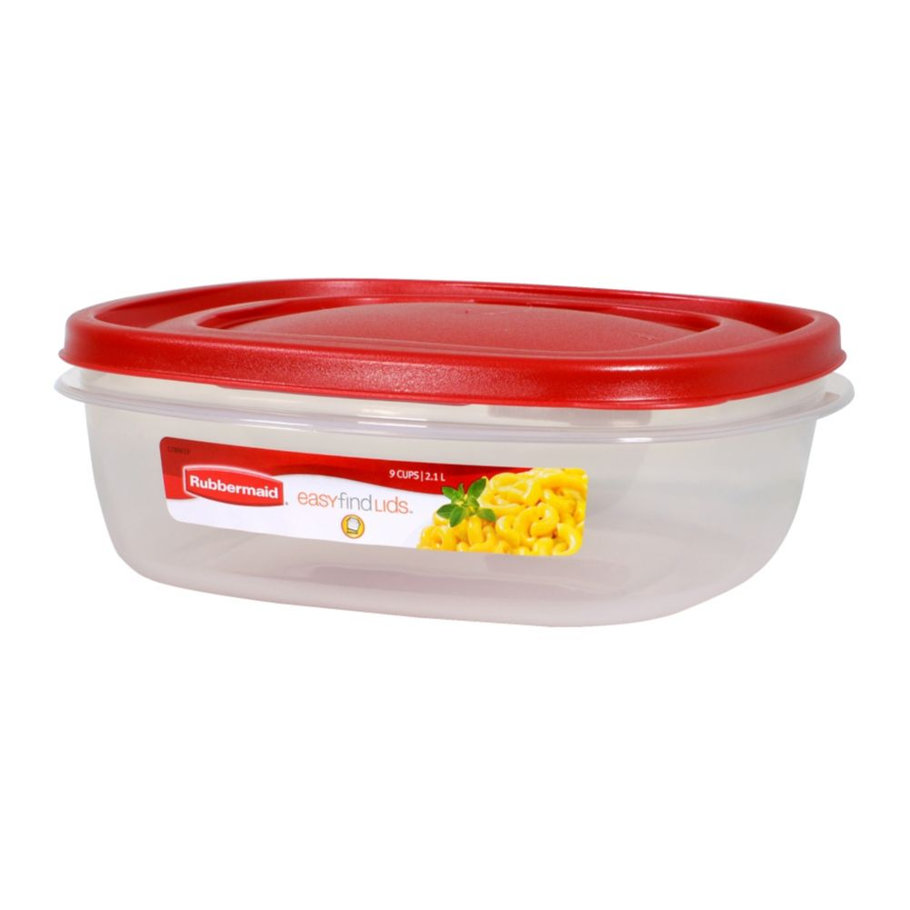 Rubbermaid® 1777090 Easy Find Lids® Red 9-Cup Container