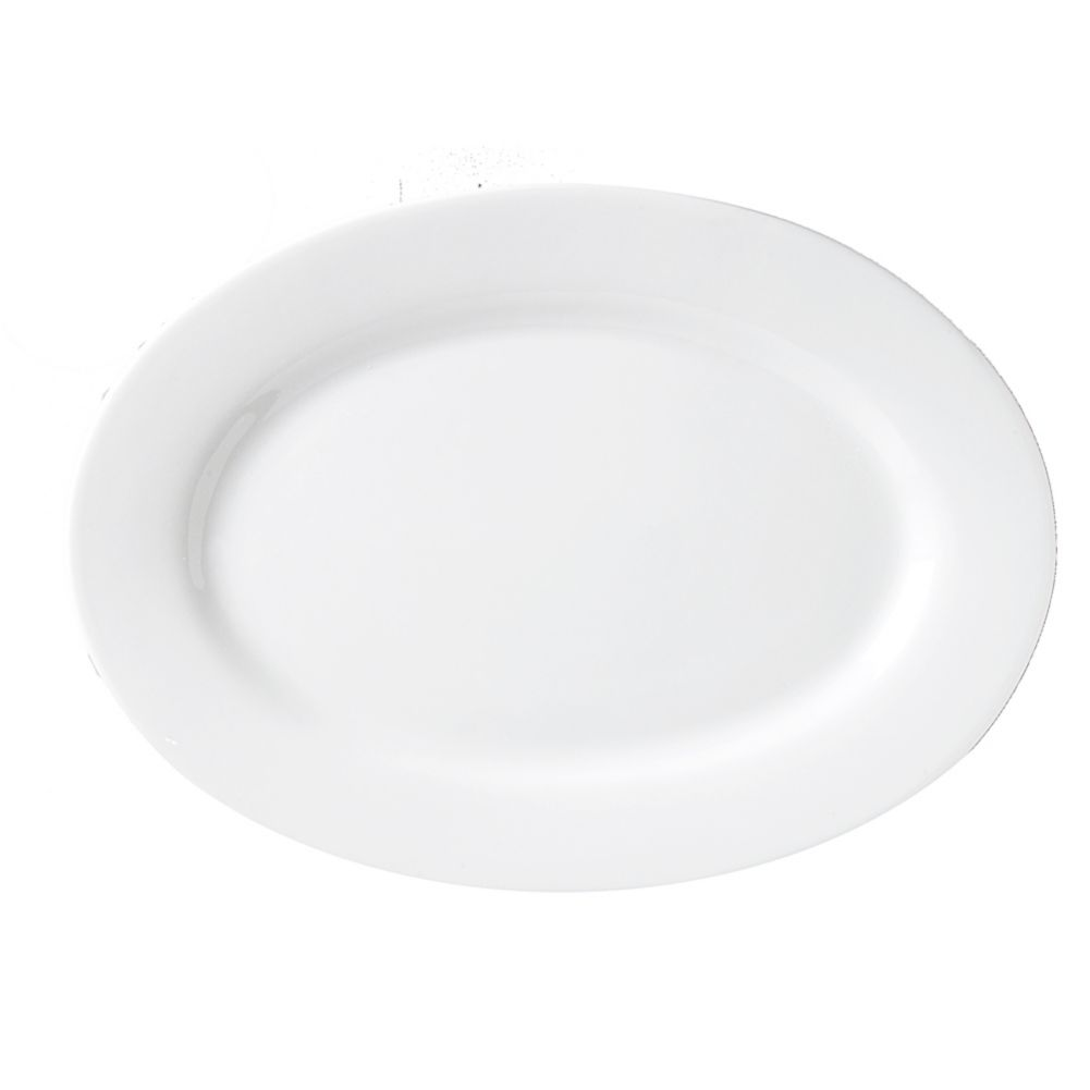 "Vertex® China ARG-39 Argyle 8.13"" White Platter - 24 / CS"